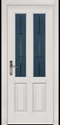 Межкомнатная дверь Массив Ольхи Двери Белоруссии Темпл Белый Классик со стеклом
