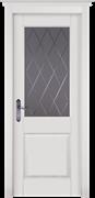 Межкомнатная дверь Массив Ольхи Двери Белоруссии Ставангер Белый Классик со стеклом