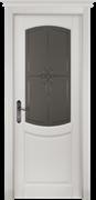 Межкомнатная дверь Массив Ольхи Двери Белоруссии Фордж Белый Классик со стеклом