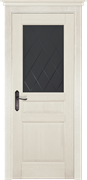 Межкомнатная дверь Массив Сосны Двери Белоруссии Энфилд Слоновая кость со стеклом