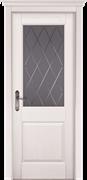Межкомнатная дверь Массив Сосны Двери Белоруссии Ставангер Белый Классик со стеклом