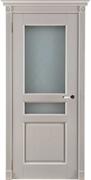 Дверь из Массива Дуба межкомнатная Двери Белоруссии Ланкастер Слоновая кость со стеклом